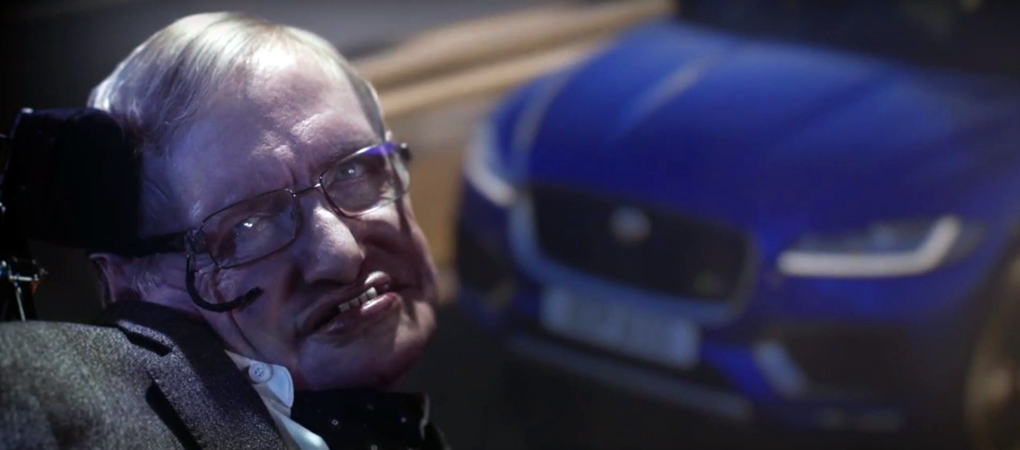 New Jaguar F Pace Commercial With None Other Than Stephen Hawking As The  Main Role