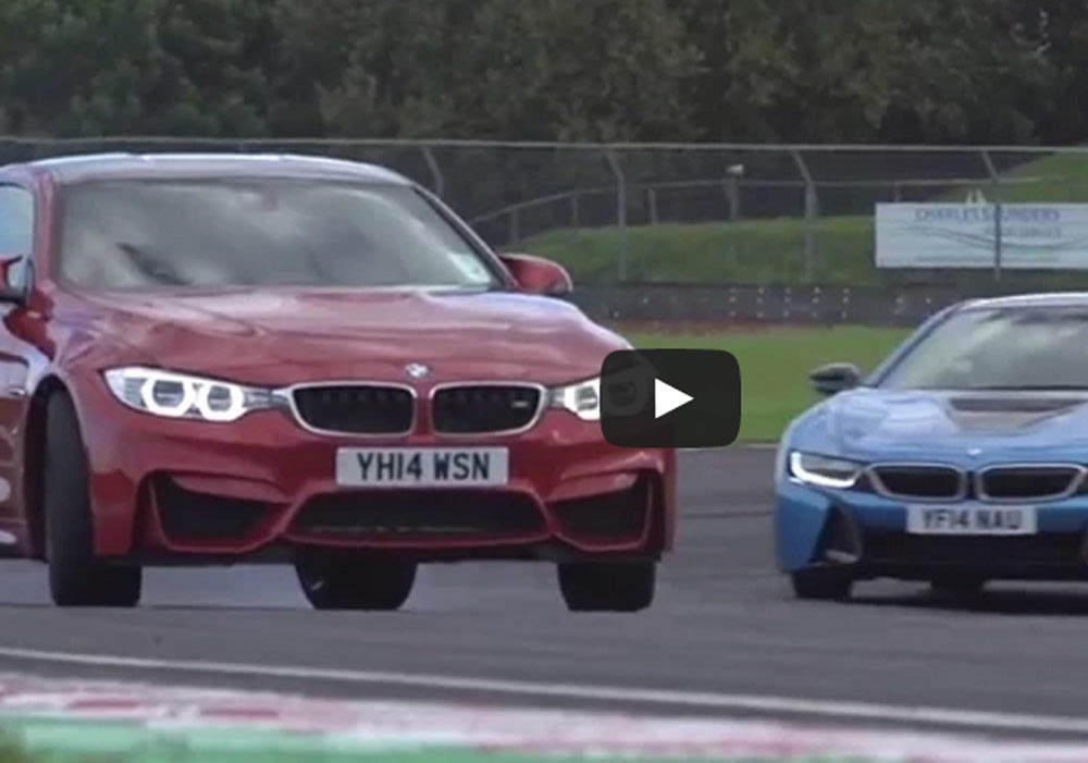BMW i8 And BMW M4 In The Strangest Showdown In The Car Industry