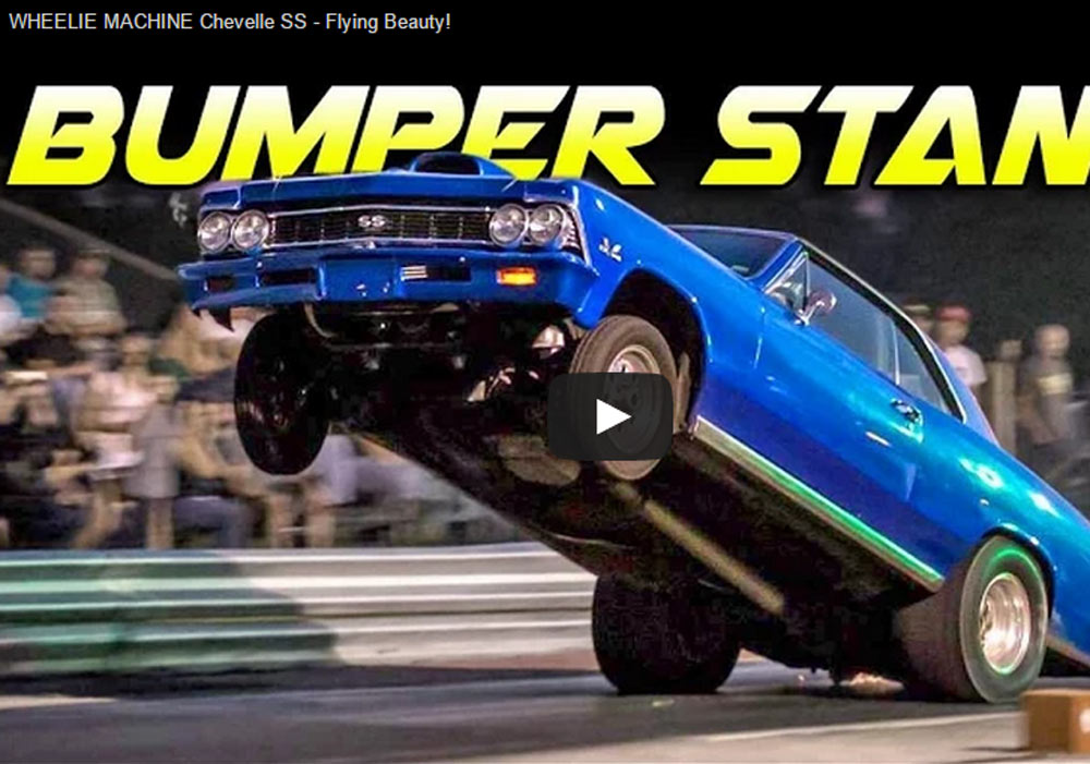Insane Modified Chevelle SS Rides More On The Back Wheels Than On All Four (Video)