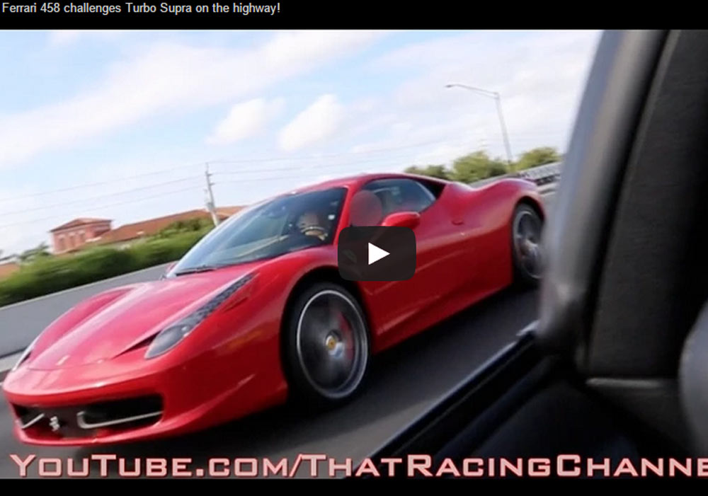 Ferrari 458 Italia Can't Touch Modified Toyota Supra (Video)