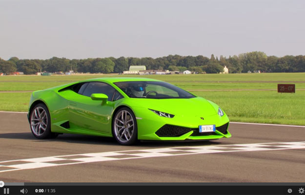 Lamborghini Huracan Is One Of The Fastest Cars On The Top Gear Test Track (power lap)