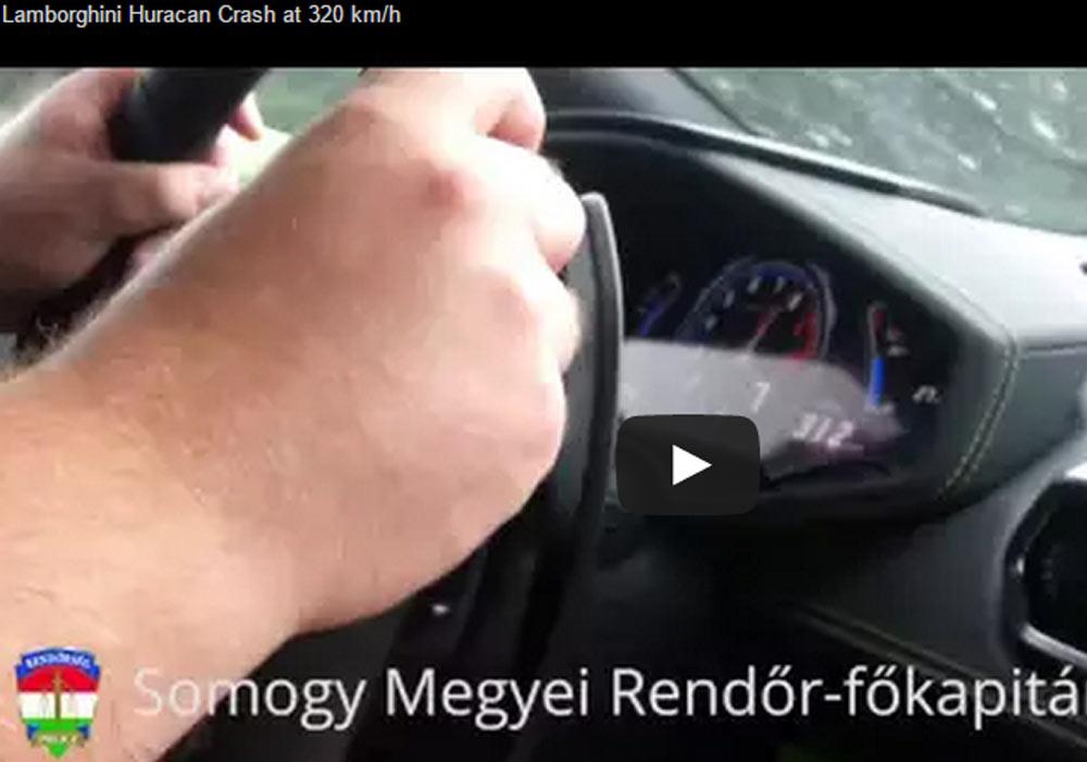 A Bizarre Lamborghini Huracan Crash At 200 mph