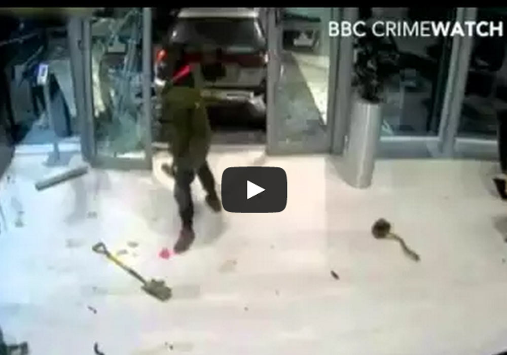 Take A Look At A CCTV Footage Of The Break In Into the Red Bull Factory Where Robbers Stole 60 Trophies