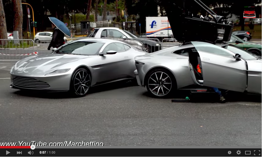 Three Aston Martins DB10s Show Up In Rome During New James Bond Movie Filming