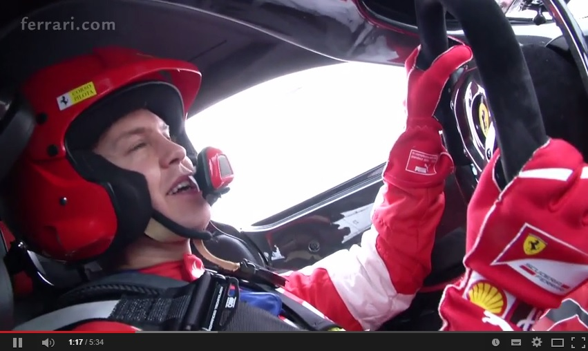 Sebastien Vettel Answers The Questions From Fans While Driving FXX At Fiorano Test Track