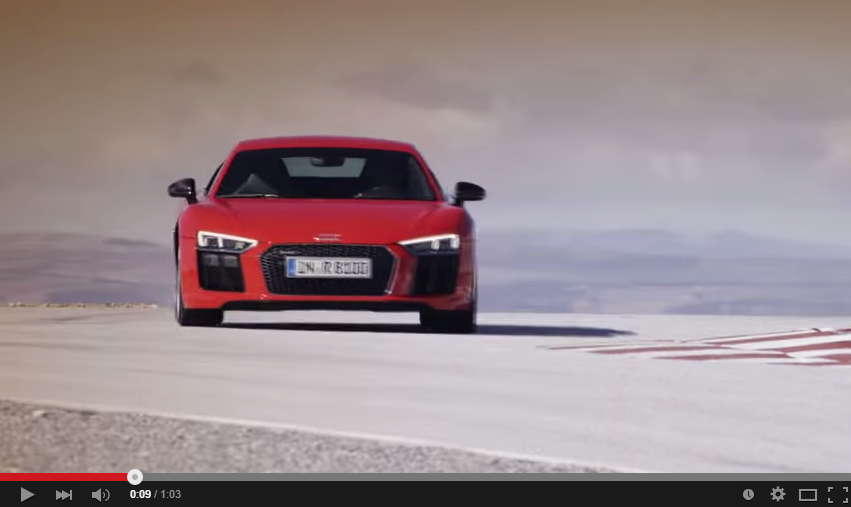 Red Audi R8 V10 Plus Looks Amazing On A Track