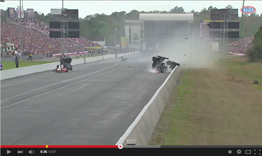 Top Fuel Dragster Crash Shows How Safety Equipment Is Important