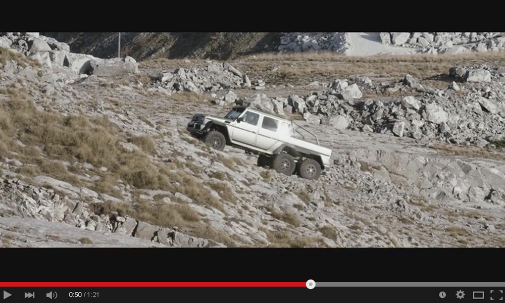 New Mercedes G63 AMG 6×6 Video Shows What This Thing Is Capable Of