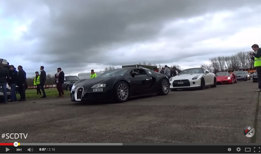 Veyron Supersport Is Still Faster Than The 1000 HP Tuned Nissan GT-R