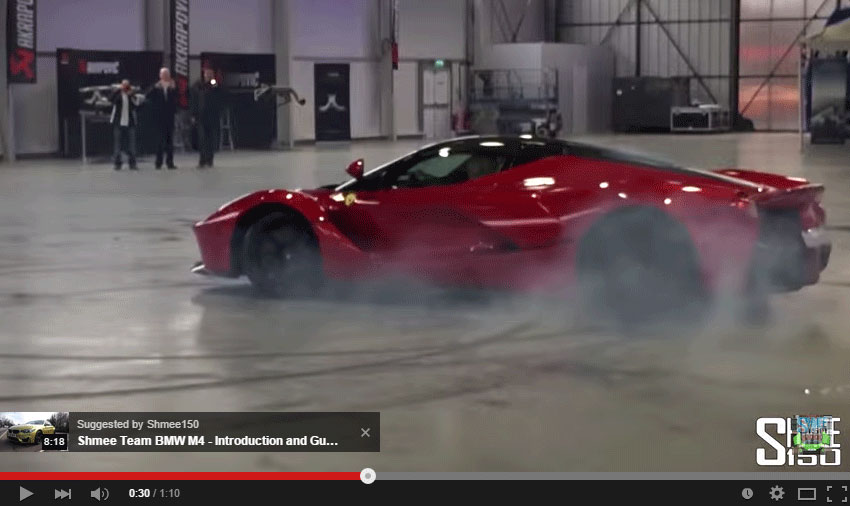 The LaFerrari Doing Donuts Is Next To Sacrilege