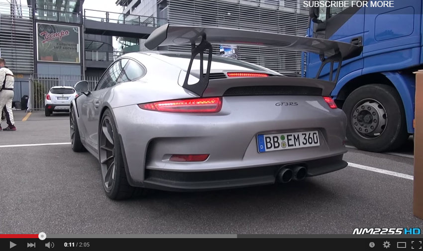 We Have A New Video Depicting The Amazing 2015 Porsche 911 GT3 RS