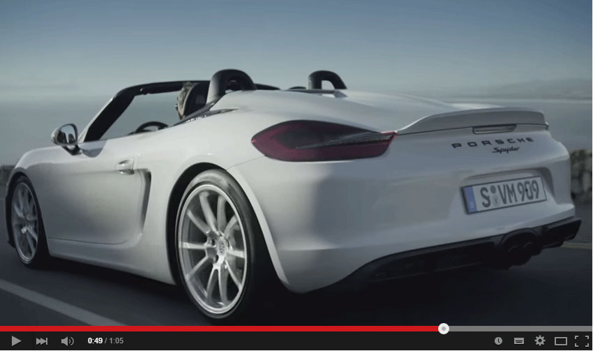 The Hunt For Curves May Begin In A New Porsche Boxster Spyder (Video)