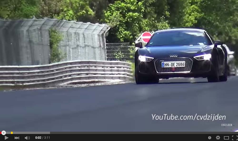 The new Audi R8 V10 Plus Is Hitting Hard On The 'Ring And It Shows Just How Sick It Is