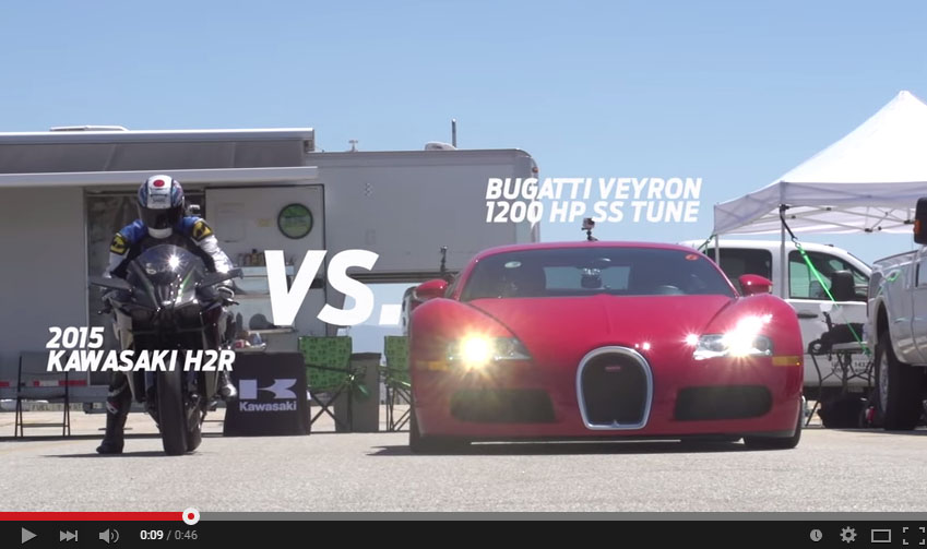 Epic Race Between The Fastest Bike And The Fastest Car In The World
