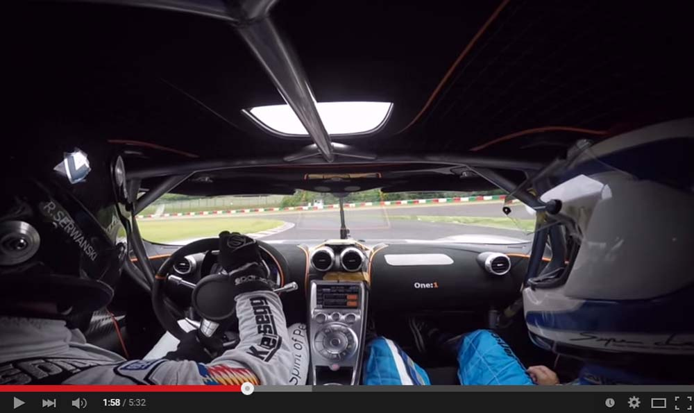 An Astonishing Koenigsegg One:1 Makes A Lap Record At The Suzuka Circuit In Japan