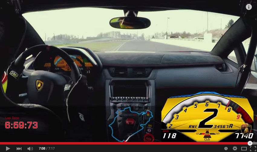 The Aventador SV Just Lapped The 'Ring In Less Than 7 Minutes