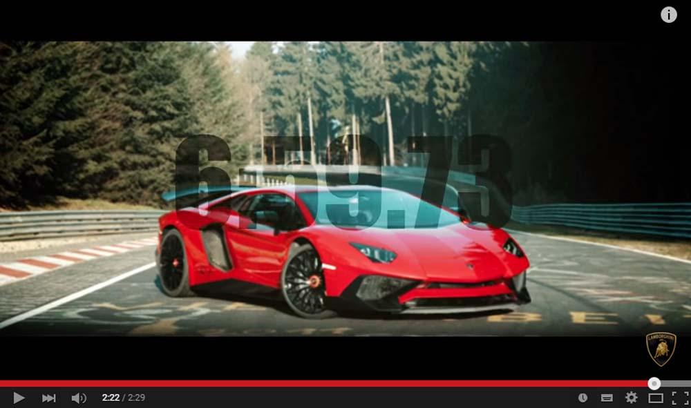 Amazing Video Celebrating The Lamborghini Aventador SV Lap Time On The Green Hell