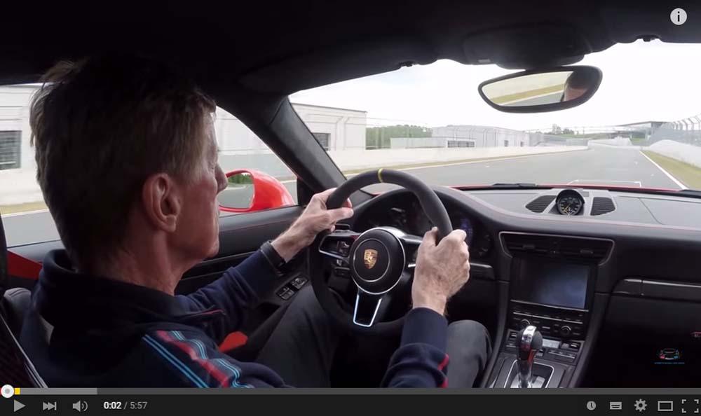 Walter Röhrl Thrashes Down The Porsche 911 GT3 At Bilster Berg