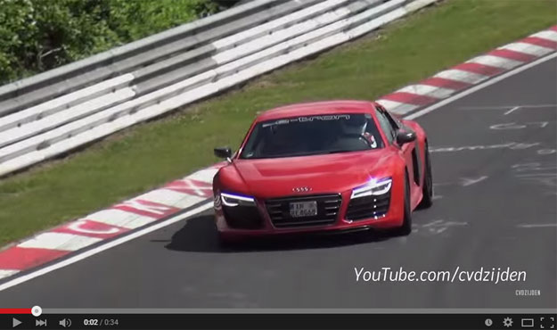 An Amazing Audi R8 E-Tron Is Thundering Down The Ring Completely Silent