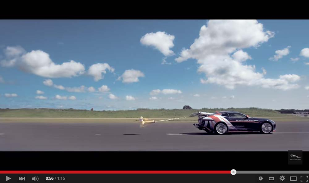 The Jaguar R Coupe Is Used To Test Out The Parachute System For The 1000 mph Car