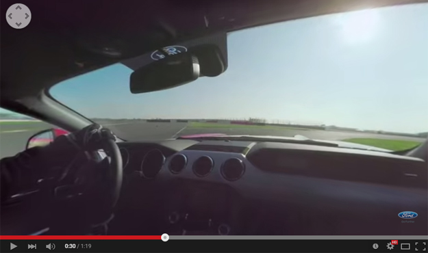 Incredibly Beautiful 360 Degree Video Captured From The Passenger Seat Of A Track Beating Mustang GT
