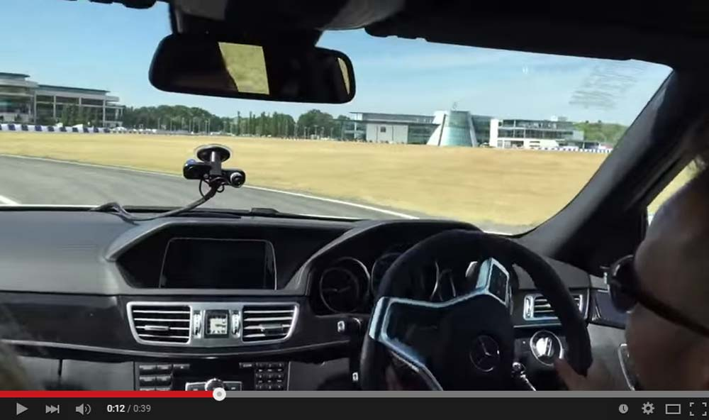 Lewis Hamilton Throws Some Drifts In A Mighty E63 AMG