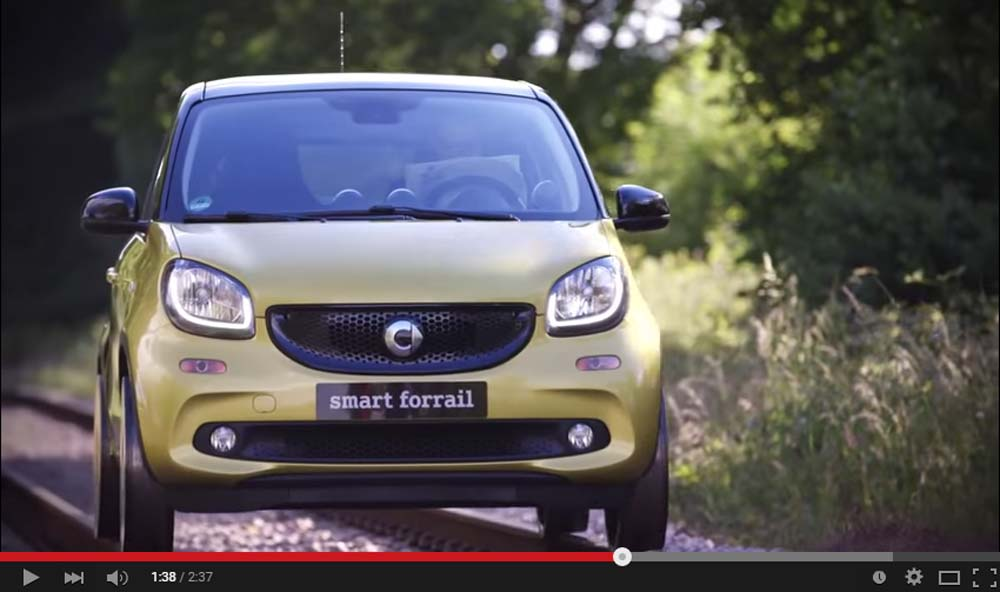 Smart ForFour Just Become Forrail And It Literally Hit The Rails