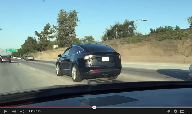 Test Prototype Of The Tesla Model X Caught On The Roads