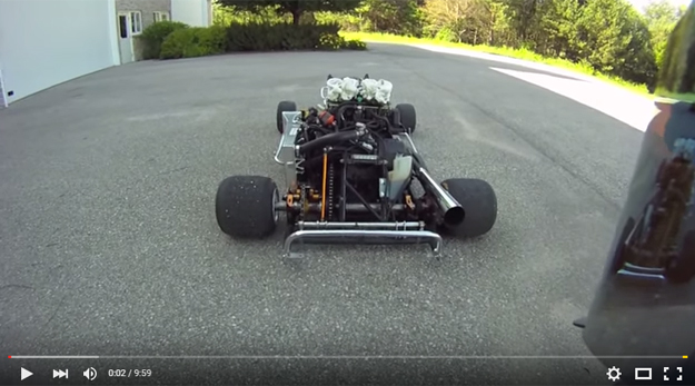 Is This The Most awesome GoKart With An 180 HP Engine Or What?