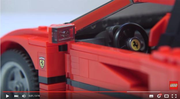 Lego Build Ferrari F40 Is An Amazingly Accurate Replica Of The Original