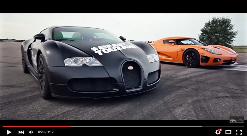 The Race Of The Titans – The 2008 Bugatti Veyron 16.4 vs The 2008 Koenigsegg CCXR