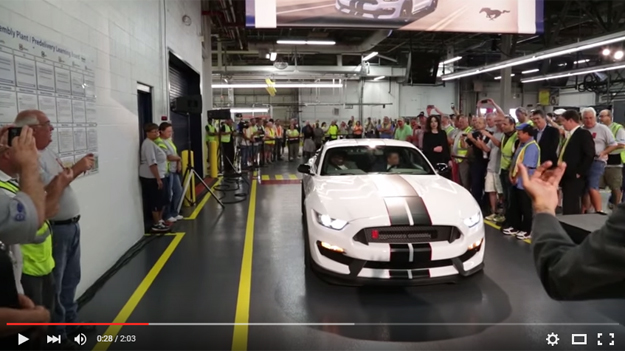 The Insanely Cool Shelby GT350R Mustang Hit The Production Line