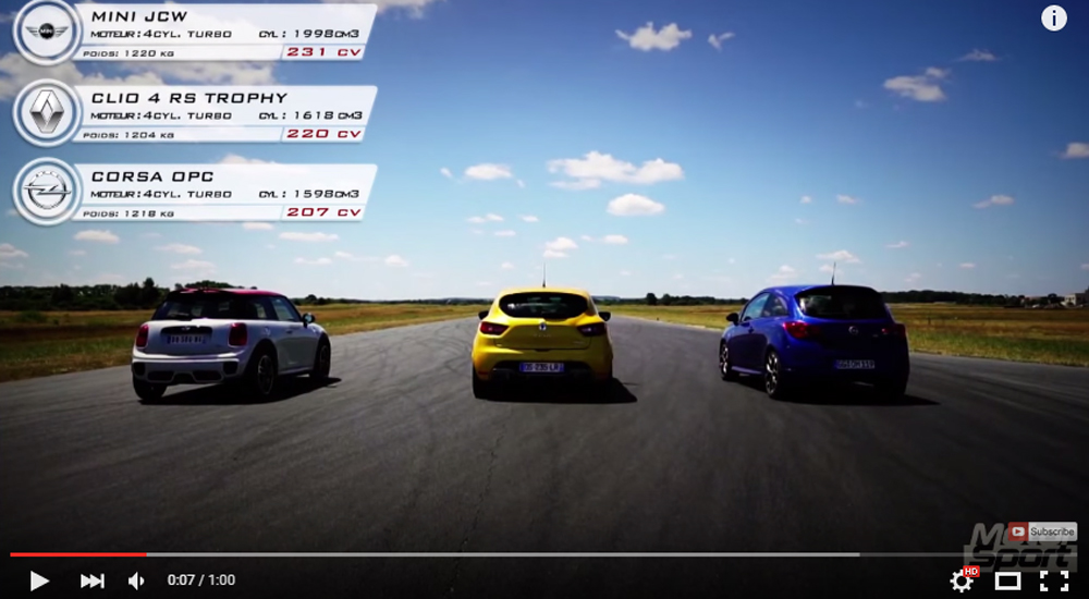 An Intense 1.000 Meter Race Between Europe's Most Amazing Hot Hatches