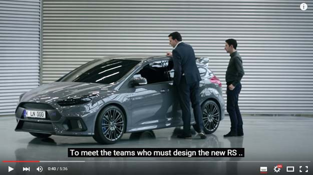 The Ford Focus RS Development In The crash Center Is Painful To Watch