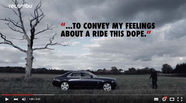 A Man Wrote A Beautiful Poem About The Rolls Royce Ghost