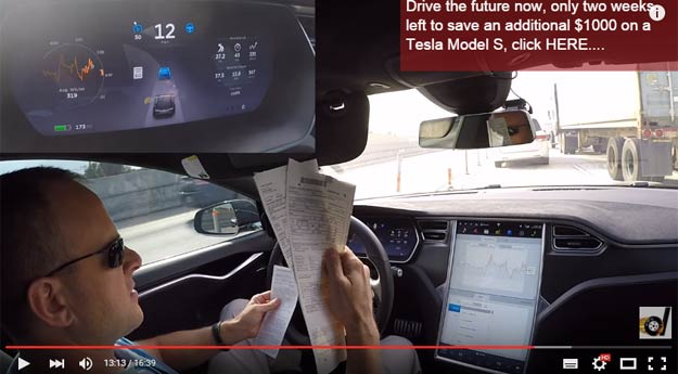 The Tesla Model S (not its driver) Made A Freaking Traffic Violation And Got A Ticket