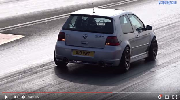 The Insane 550 HP Golf IV R32 Trashed The Drag Strip In The US