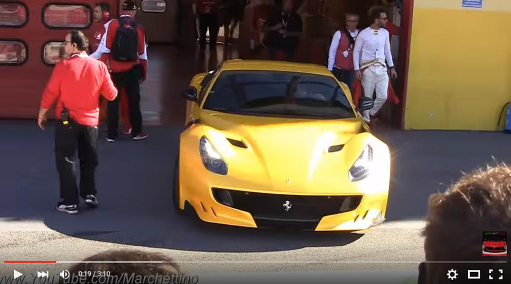 Ferrari F12tdf Show In Mugello Is Worth Watching With All The Donuts And Burnouts