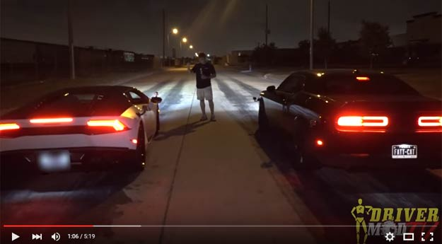 A Clash Between The Hellcat And The Lambo Huracan Goes Where No One Expected