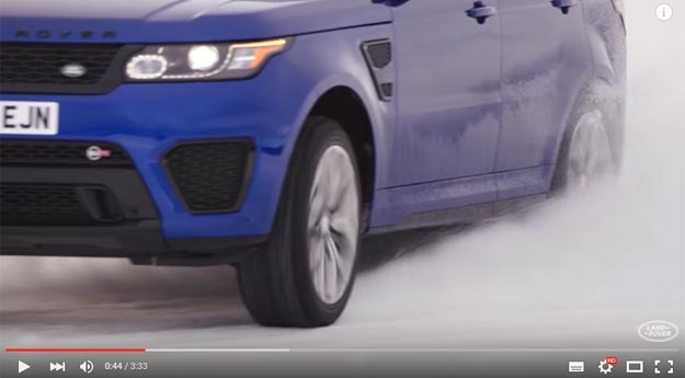 Range Rover Sport Driving On Silverstone Replica Track Made On Ice Is The Thing Of Dreams