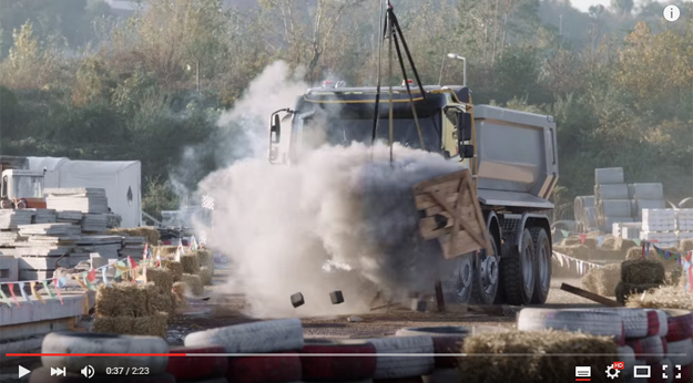 4-Year Old Girl Driving A Volvo Truck And Making Carnage With It Is The Best Thing This Month