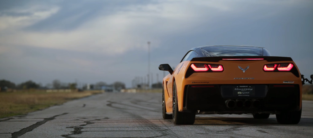 Incredible 1000hp Hennessey Corvette C7 Sounds Like A Thunder