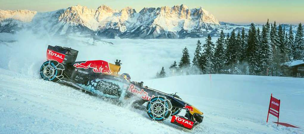 Red Bull F1 Car Went Up A Ski Slope In An Awesome Representation Of Pure Gearhead Excitement