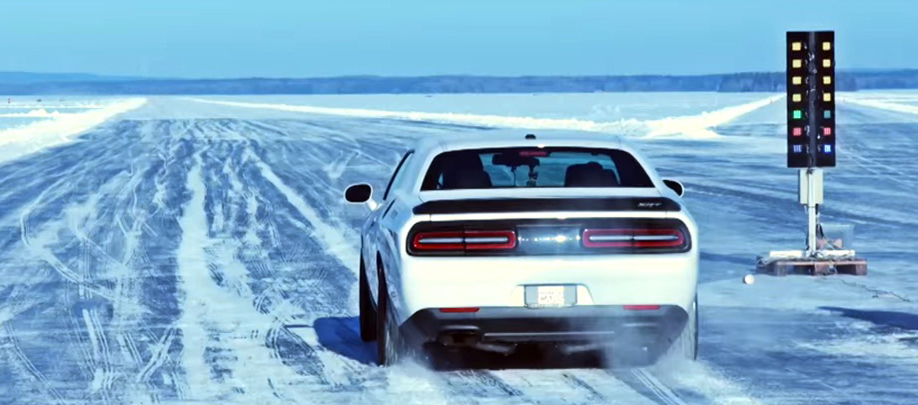 Challenger Hellcat Reaches 171 mph On Ice In Sweden And Shows Its Greatness