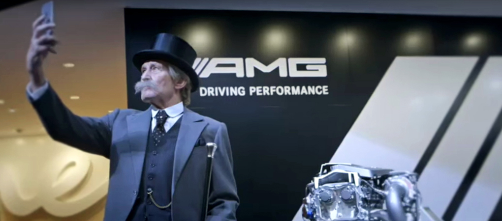 Mercedes-Benz Resurrected Carl Benz And He Is Funny As Hell