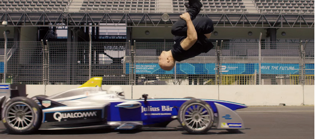 Epic Backflip Above An Accelerating Formula E Is What Incredible Looks Like