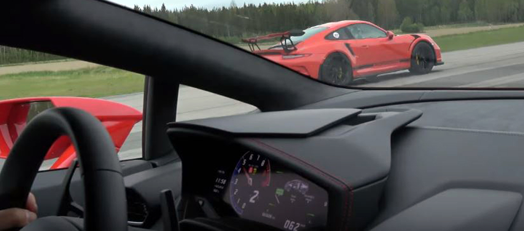 Huracan and 911 GT3 RS Go Against One Another In This Fantastic Shoot Out