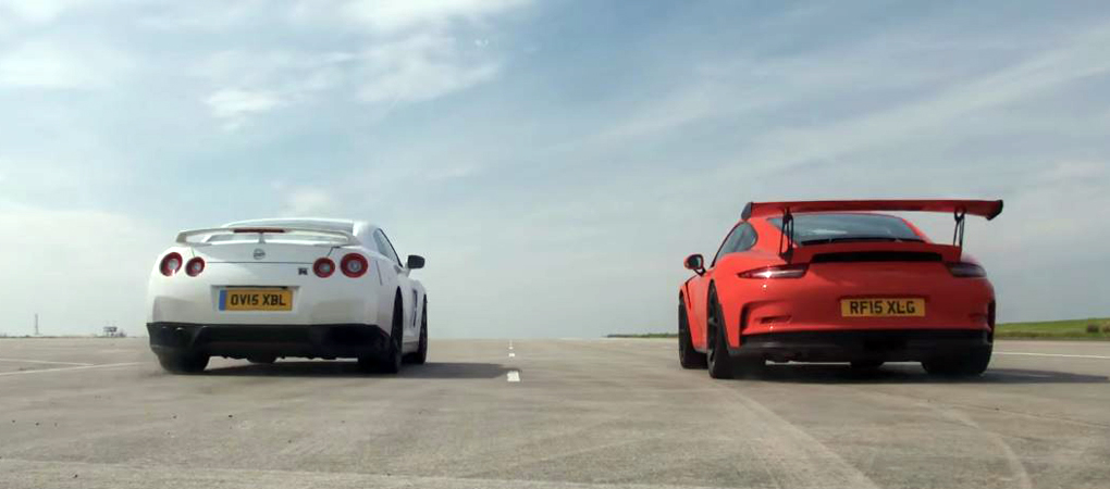 Stock Porsche 911 GT3 RS Just Obliterated Nissan GT-R In A Drag Race