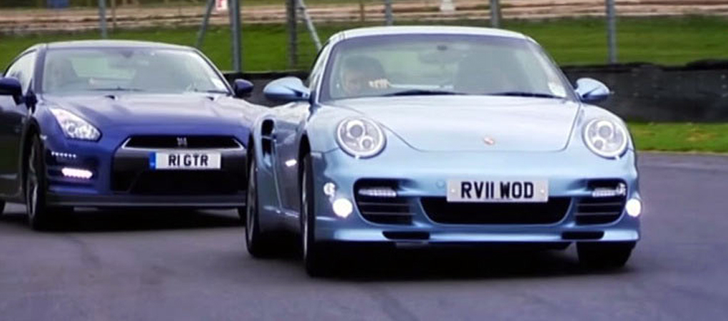 One Of The Best Fifth Gear Reviews Of The Porsche 911 Turbo S and The Nissan GT-R