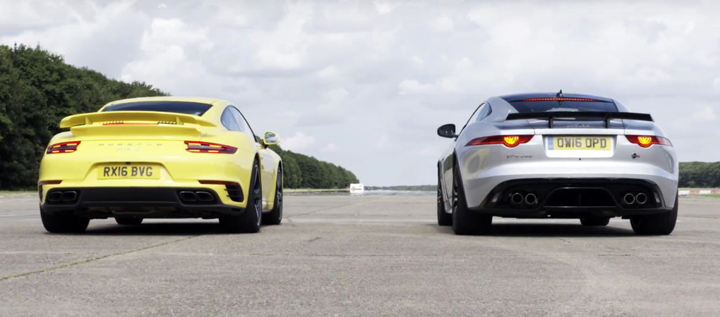 Drag Race Between Porsche 911 Turbo And The Jag F-Type SVR Reveals Something Incredible